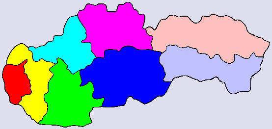 Kraje na Slovensku